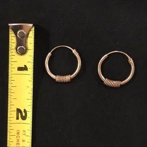 Jewelry - VINTAGE SILVER HOOPS